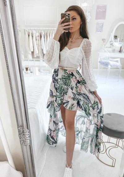 Spódnica CASEY asymetryczna w kwiatowy print