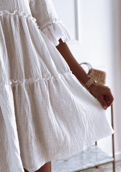 Sukienka LENA bawełniana o trapezowym kroju 6