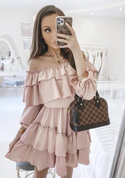 Sukienka TAMARIS hiszpanka różowa