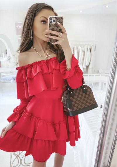 Sukienka TAMARIS hiszpanka FUKSJA