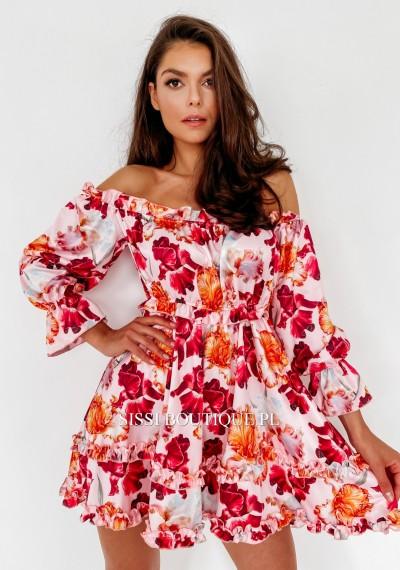 Sukienka LILY hiszpanka kwiatowy print