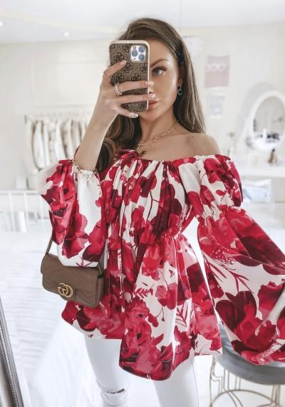 Bluzka LEONARD hiszpanka w kwiatowy print