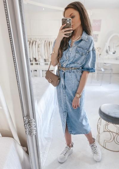 Sukienka CASSANDRA jeansowa midi 3