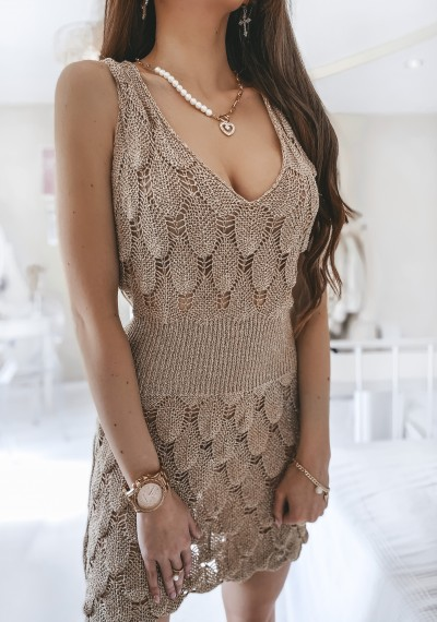 Sukienka MARIAH złota nitka