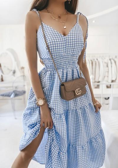 Sukienka JONAS w kratę midi