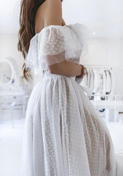 Sukienka CARLA tiulowa midi BIEL 2