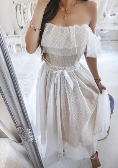 Sukienka CARLA tiulowa midi BIEL 5