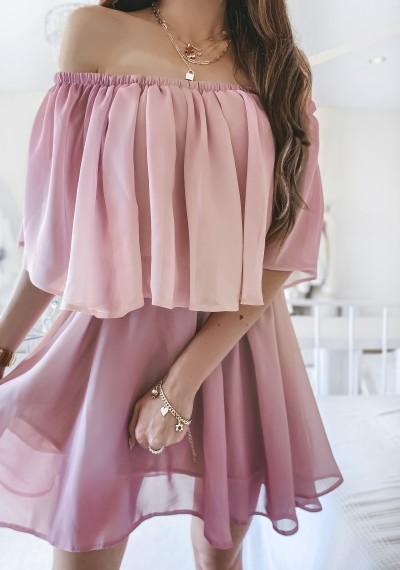 Sukienka FRANKY ombre PUDER-FIOLET