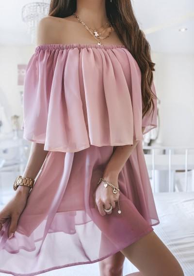 Sukienka FRANKY ombre PUDER-FIOLET 1