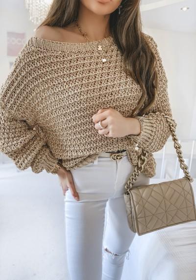 Sweter SHARON złota nitka