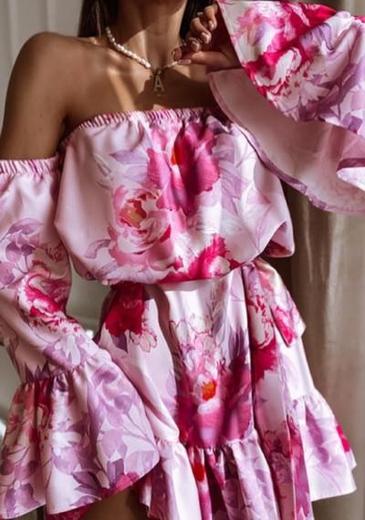 Sukienka MARLEEN hiszpanka w kwiaty