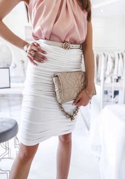Spódnica STILO biała drapowana