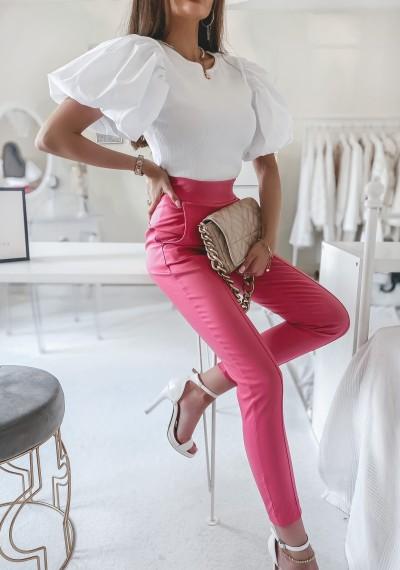 Spodnie TROY woskowane MALINOWE 1