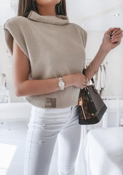 Sweter/bezrękawnik COLLIN BEŻOWY