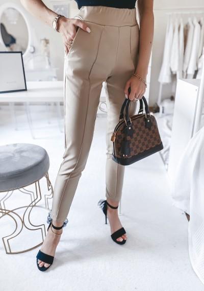 Spodnie TROY woskowane BEŻOWE