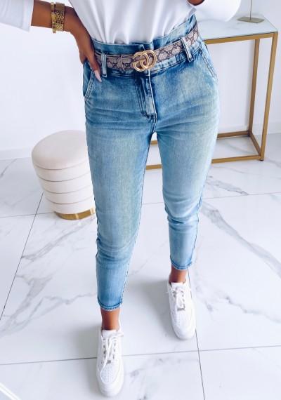 Spodnie MIGUEL jeansowe jasne luźniejszy krój