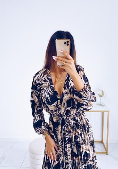 Sukienka CARMEN maxi w print DARK 2