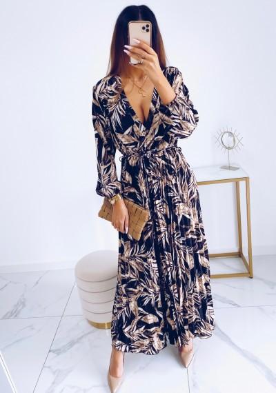 Sukienka CARMEN maxi w print DARK 8