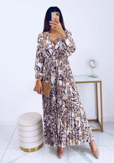 Sukienka CARMEN maxi w print LIGHT