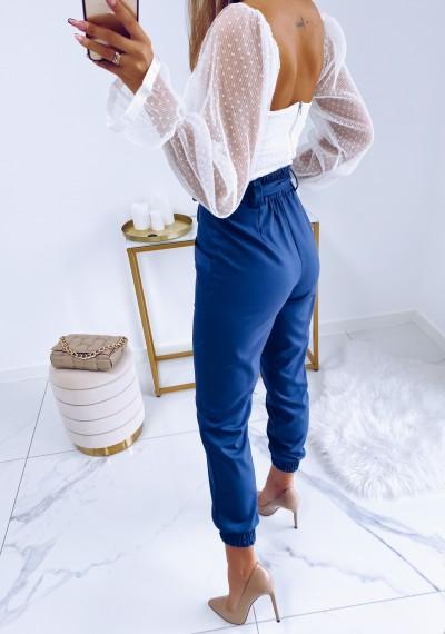 Spodnie VERO wiązane w pasie GRANAT 4