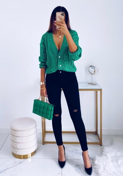 Spodnie LIONEL czarne jeans z dziurami