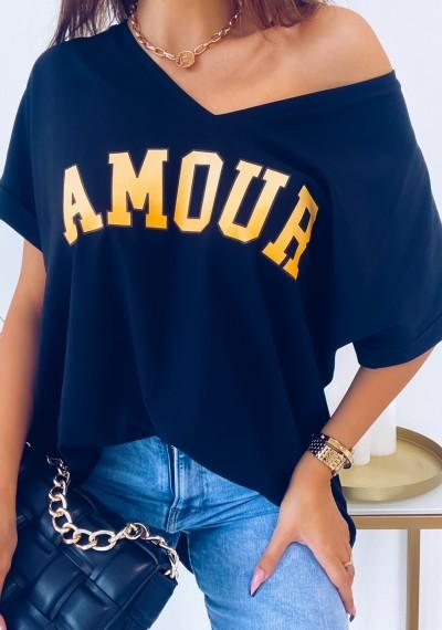 Tshirt AMOUR CZARNA