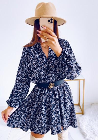 Sukienka MADELINE w drobny kwiatowy print DARK