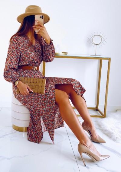 Sukienka DORIS midi KWIATY 1