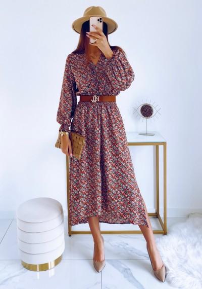 Sukienka DORIS midi KWIATY 3