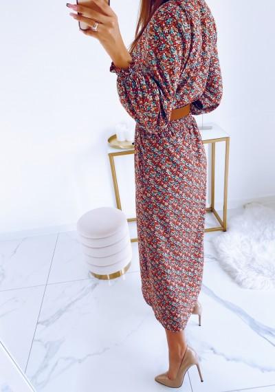 Sukienka DORIS midi KWIATY 4