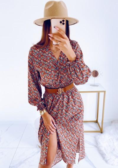 Sukienka DORIS midi KWIATY 5