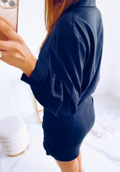 Sukienka SONYA koszulowa z wiązaniem CZARNA 4