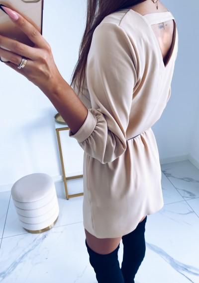 Sukienka SHARON Beżowa 2