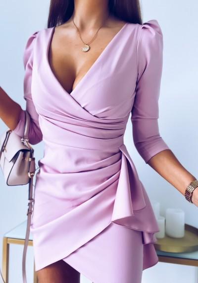 Sukienka SIMPLE różowa 1