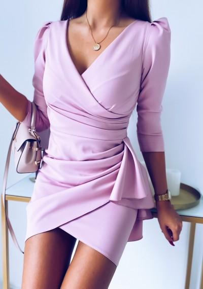 Sukienka SIMPLE różowa 2