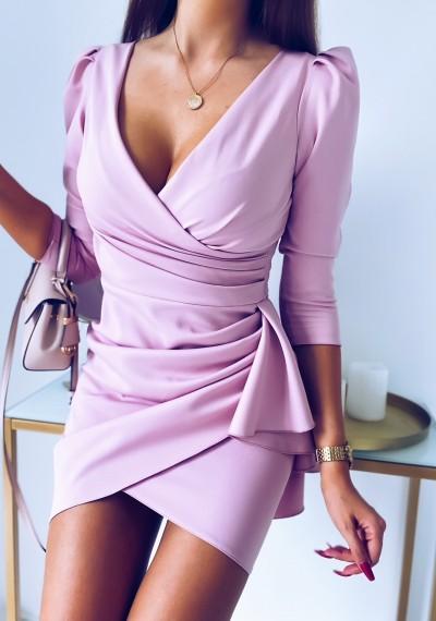 Sukienka SIMPLE różowa 3