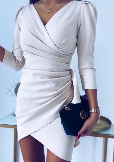Sukienka SIMPLE beżowa 1