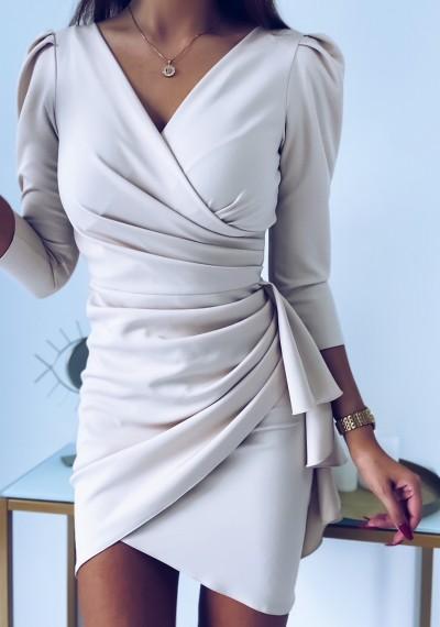 Sukienka SIMPLE beżowa 2