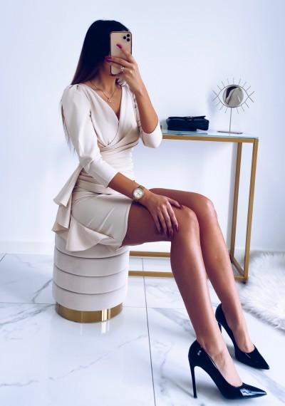 Sukienka SIMPLE beżowa 3