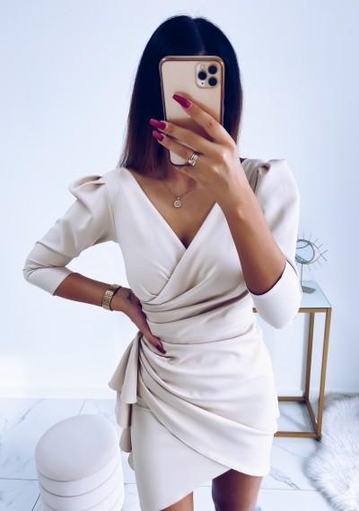 Sukienka SIMPLE beżowa 4