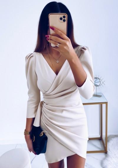 Sukienka SIMPLE beżowa 5