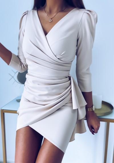 Sukienka SIMPLE beżowa 6