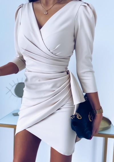 Sukienka SIMPLE beżowa 8