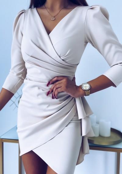 Sukienka SIMPLE beżowa