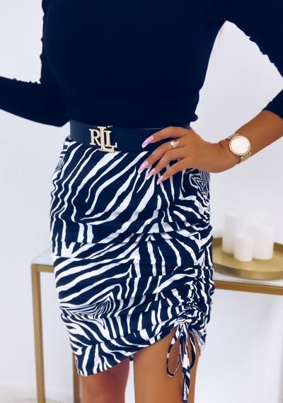 Spódnica KOURTNEY print zebry biała
