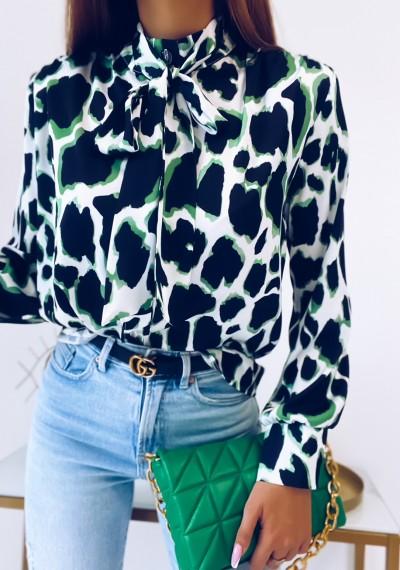 Koszula ELENA w zieloną panterkę