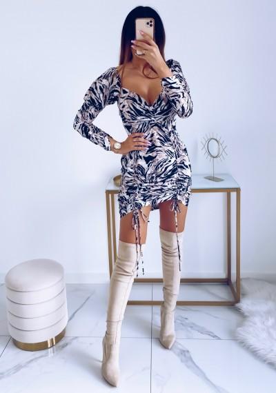 Sukienka SASHA brązowa zebra 2