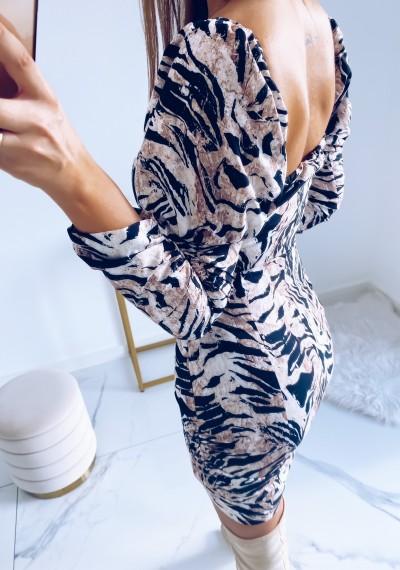 Sukienka SASHA brązowa zebra 7