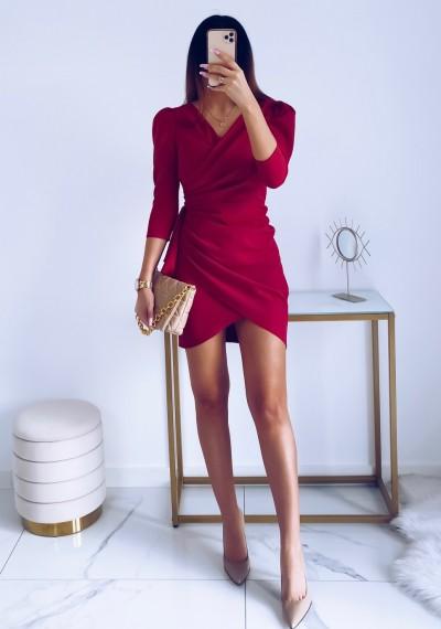 Sukienka SIMPLE MALINA 10