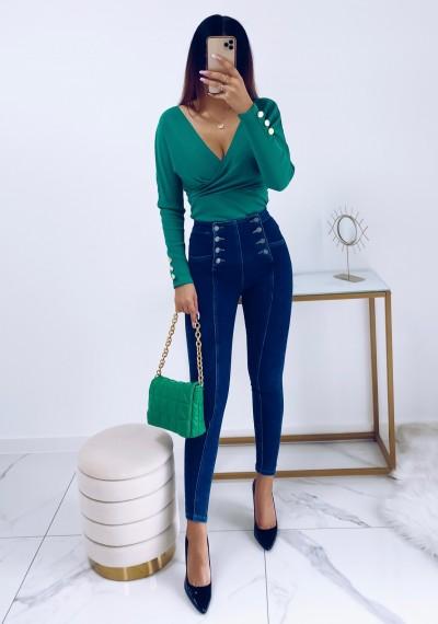 Spodnie NELLY jeansowe z przeszyciami